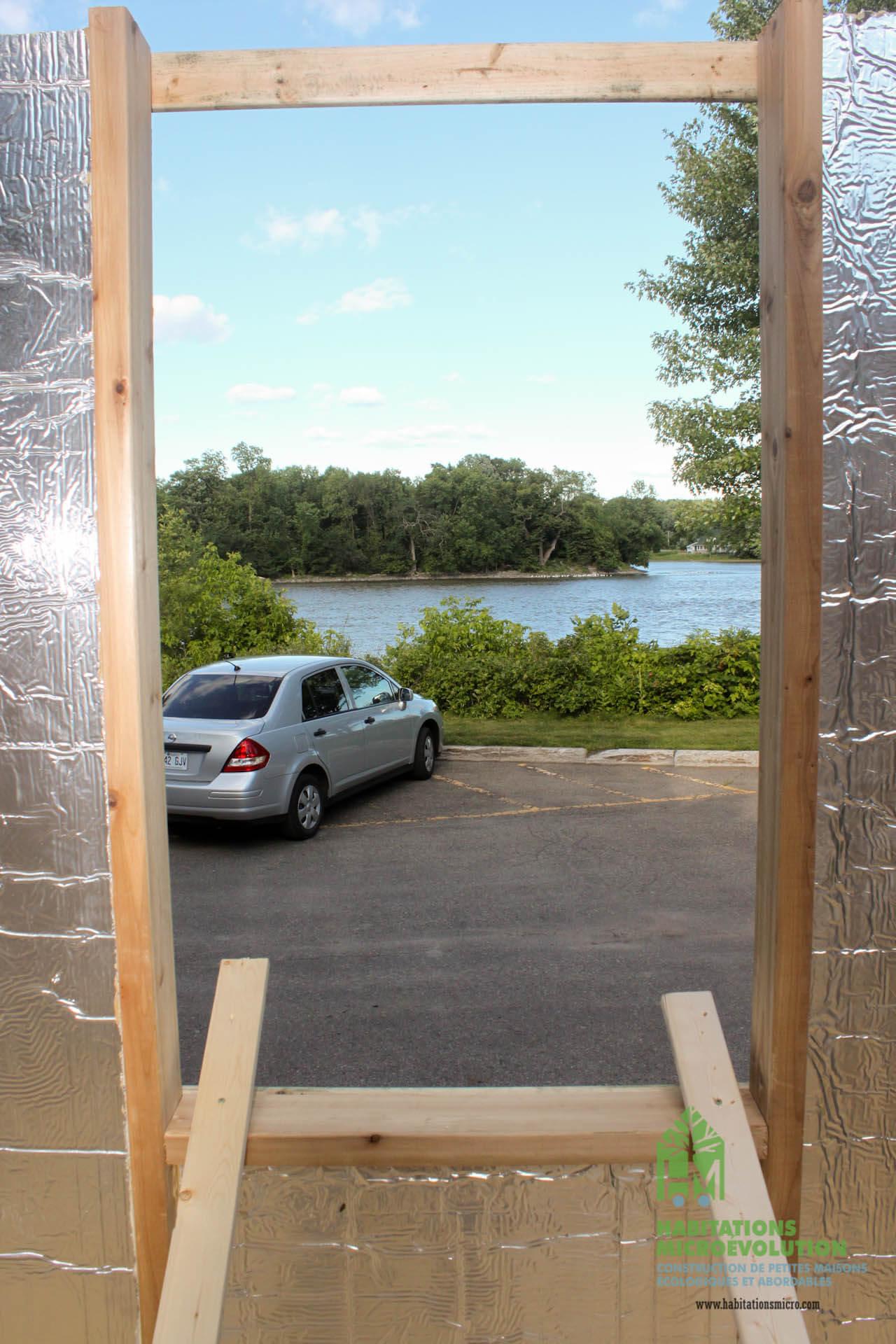 La vue à travers la future fenêtre
