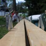 Installation d'étriers sur le linteau 2