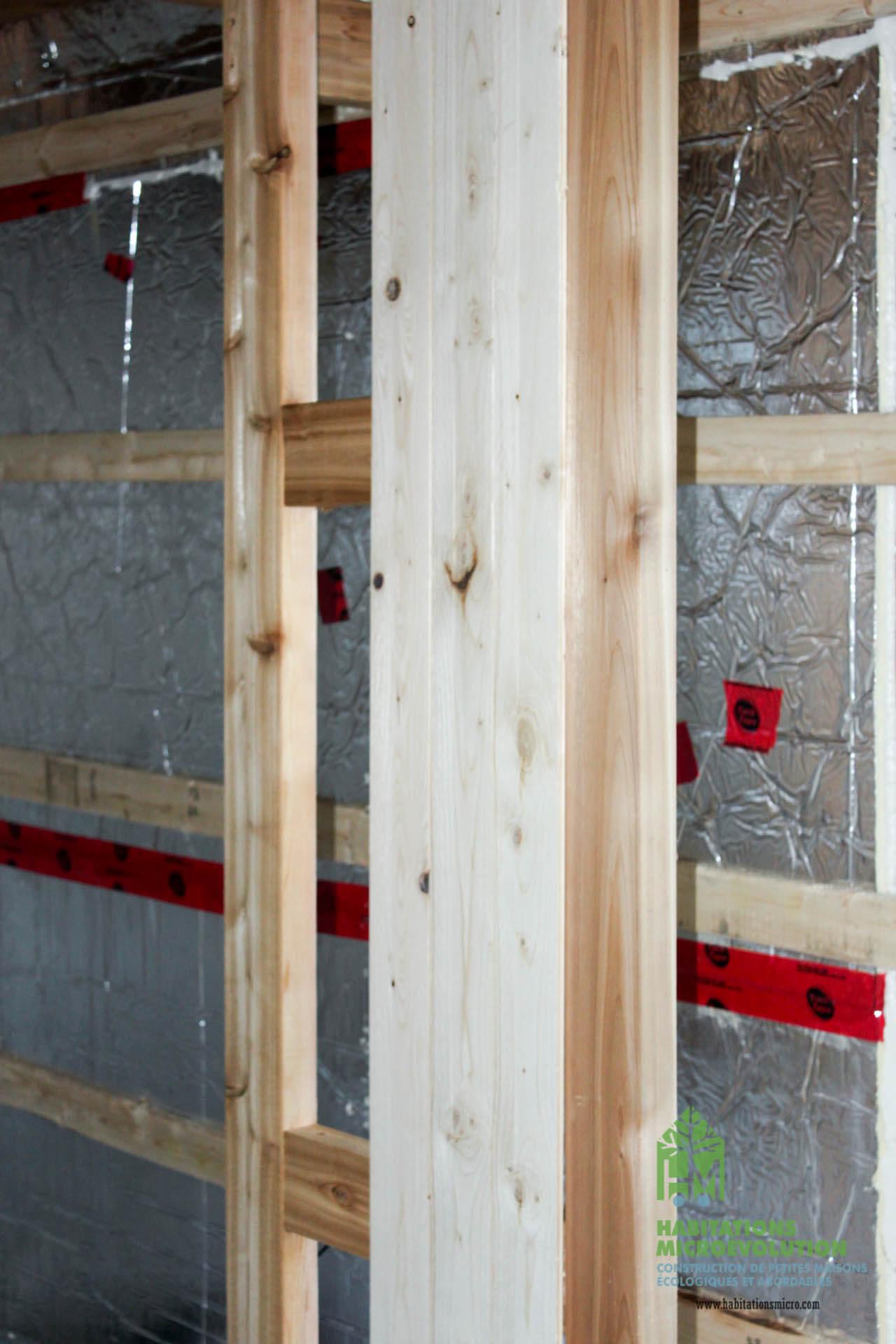 Installation du lambris de pin