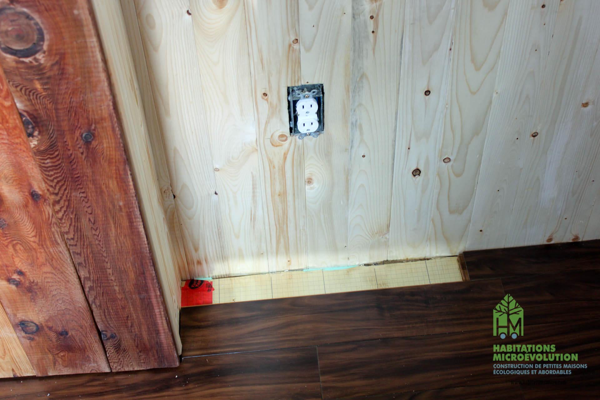 Installation du plancher de bambou 3