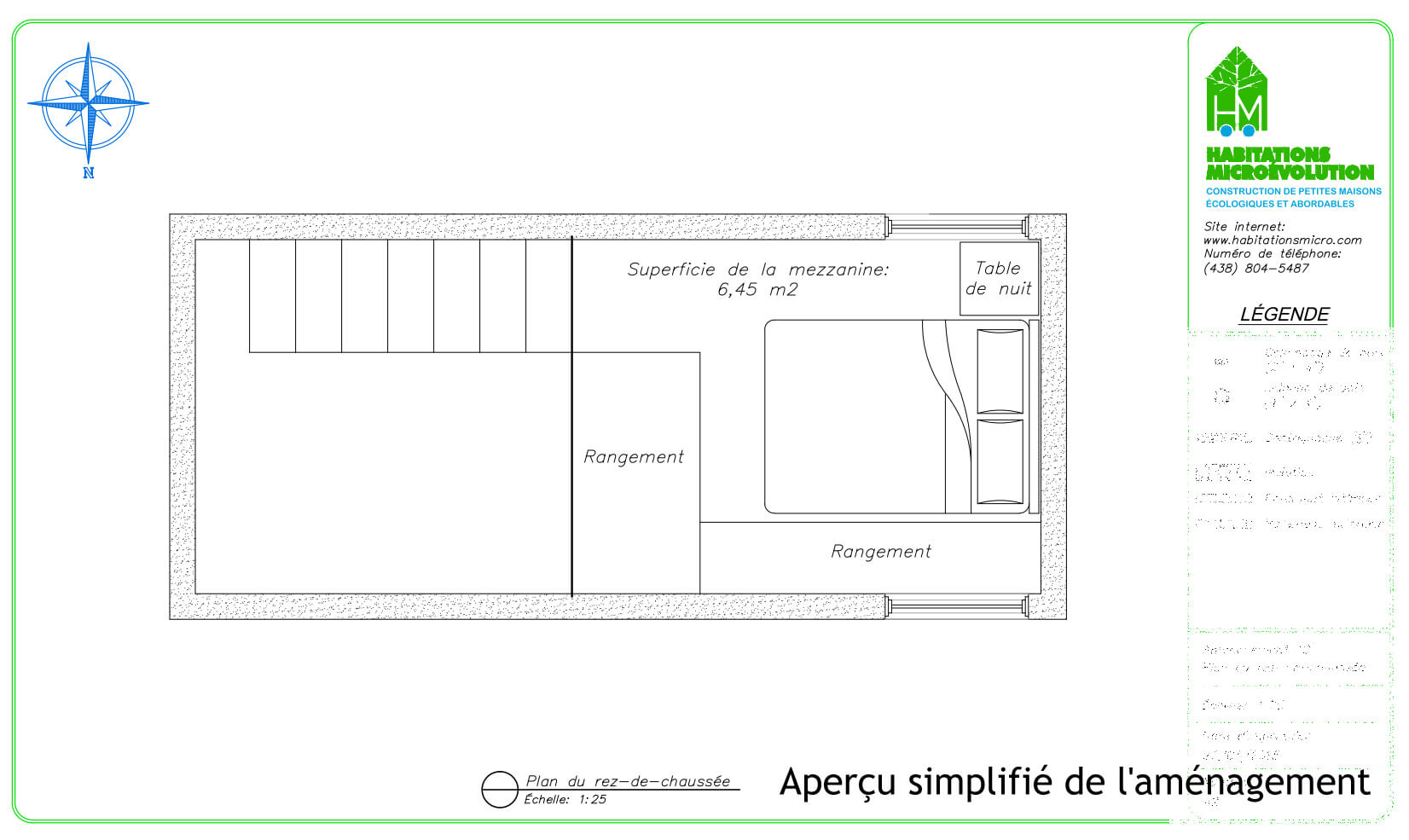 Plan de construction mini maison mezzanine