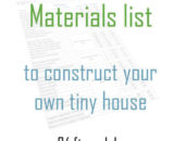 Tiny house materials list