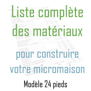 Plans de construction mini maison tiny house for Liste materiaux construction maison