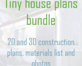 Tiny house plans bundle