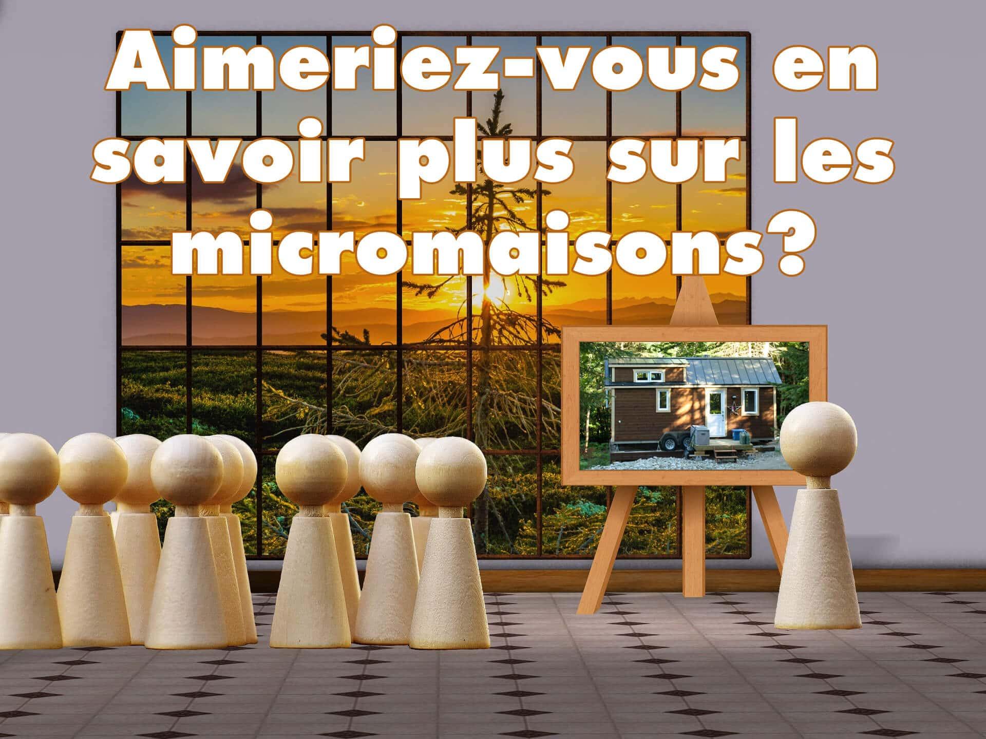 Conférence sur les micromaisons à Québec