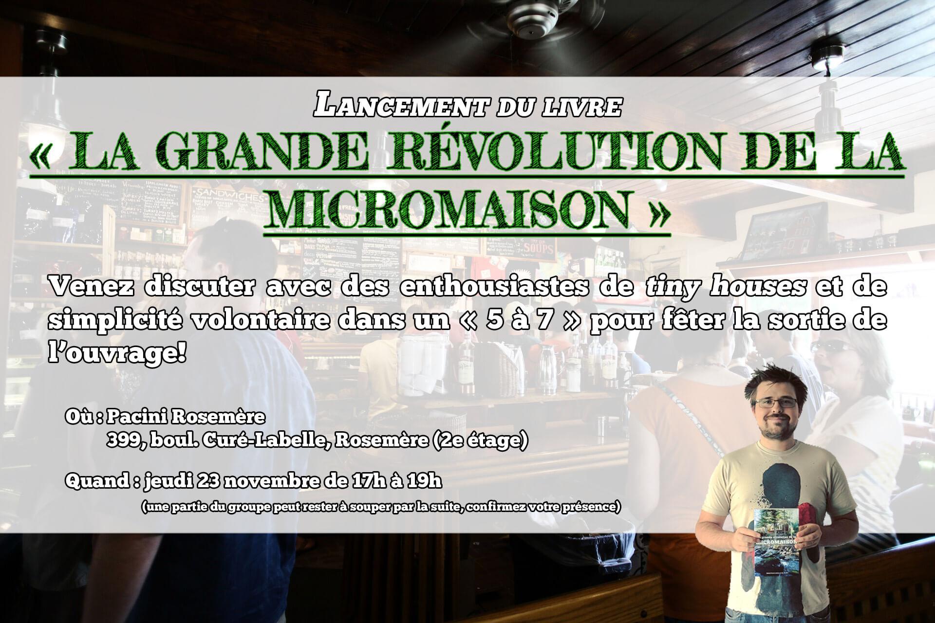 Lancement du livre « La grande révolution de la micromaison »